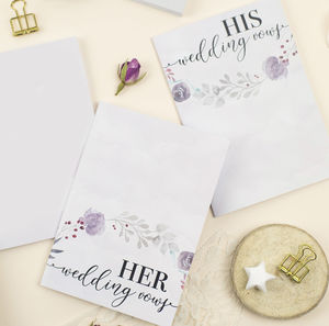 'His And Hers' Wedding Vows Books