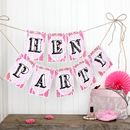Hen Night Bunting, Fun Party Decorations