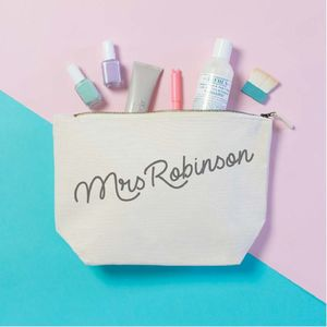 Personalised 'Mrs' Toiletries Bag - bags