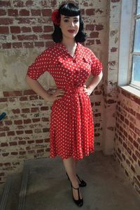 1940's Vintage Inspired 'Vanessa' Dress
