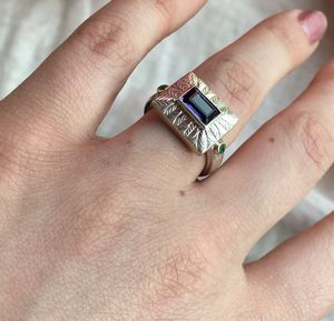 Iolite Emerald Ring - rings