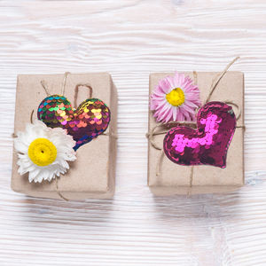 Reversible Sequin Gift Decorations Pack Of Four - sewing kits