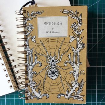 'Spiders' Upcycled Notebook
