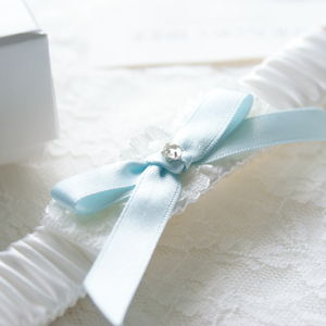 Bella Satin Garter - wedding fashion