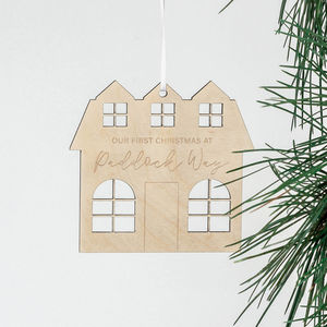 Personalised House Christmas Ornament