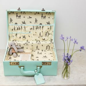 Personalised Memory Suitcase Keepsake Box Gift Set
