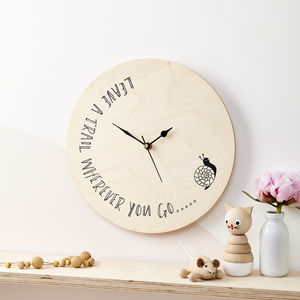 Children's Snail Clock - baby's room