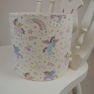 Handmade Lampshade In Unicorn Fabric - lampshades