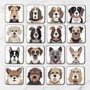 Dog Coasters 64 'Pawtrait' Designs