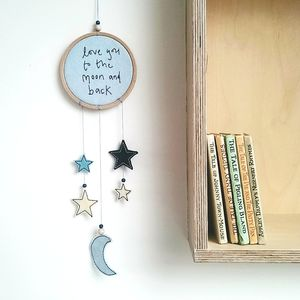 Moon And Stars Nursery Dreamcatcher - children's room