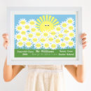 Personalised Teacher Thank You Daisy Print