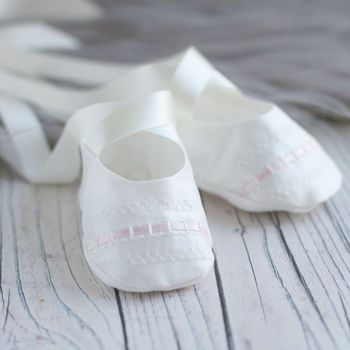 Christening Booties 'Evie'