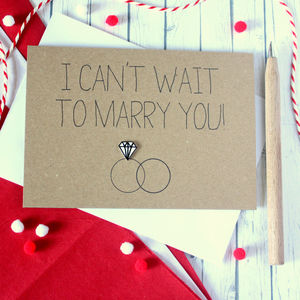 I Can't Wait To Marry You, Diamond Ring Wedding Card - keepsakes