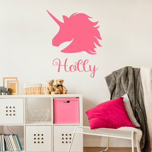 Unicorn Personalised Wall Stickers - baby & child