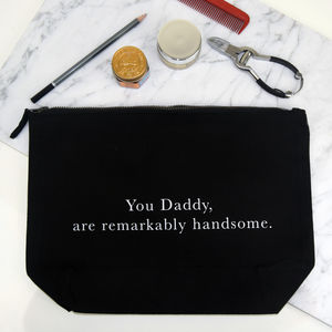'Remarkably Handsome' Wash Bag - wash & toiletry bags
