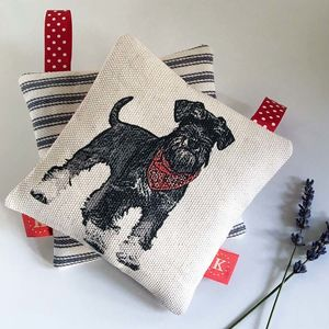Schnauzer Lavender Bag - decorative accessories