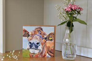 Belle Jersey Cow Greetings Card