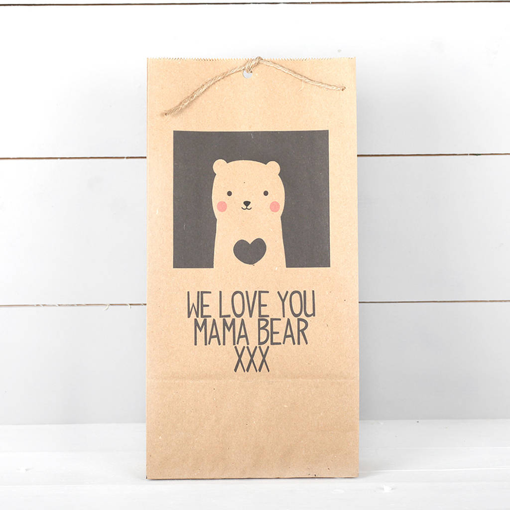 Personalised Bear Gift Bag