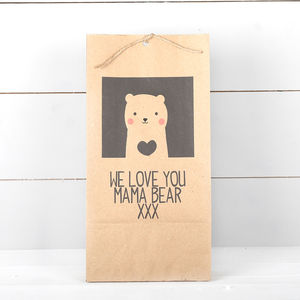 Personalised Bear Gift Bag - mother's day gifts