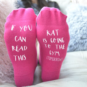 Going To The Gym… Tomorrow Socks Personalised - gifts for her