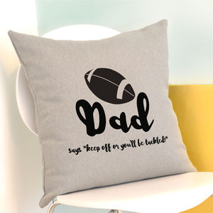 Personalised Rugby Cushion - cushions