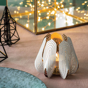 Metal Flower Design Votive Holder - feeling cosy - hygge home ideas