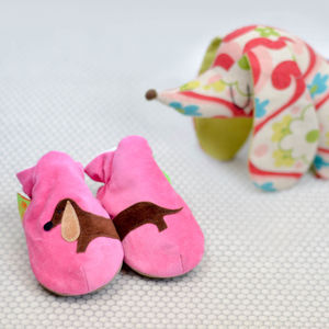 Sausage Dog Baby Shoes And Toddler Slippers