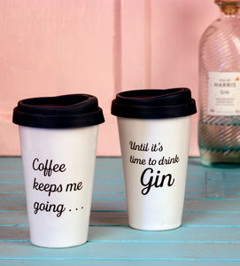 Gin Drinker's Personalised Travel Mug - mugs