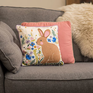 Bunny And Bees Cushion