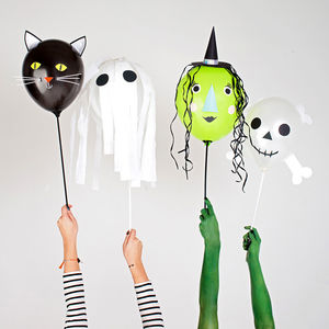 Make Your Own Halloween Character Balloon Head - trick or treat bags