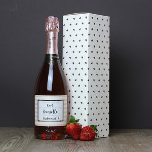 Will You Be My Bridesmaid? Personalised Sparkling Rose