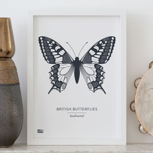 'British Butterflies: Swallowtail' Screen Print