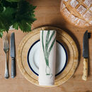 Spring Onion Napkin Place Setting