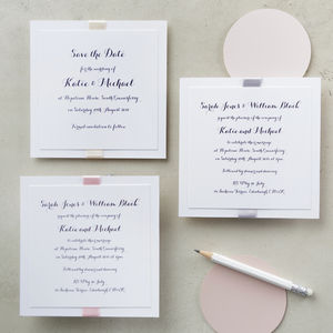Elegance Pastels Wedding Invitation - save the date cards