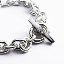 Handmade Silver T-bar Bracelet - Polished Finish