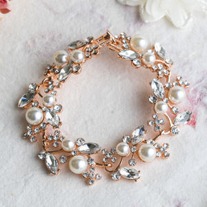 Estelle Crystal And Rose Gold Bracelet