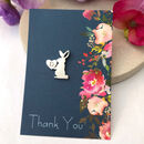 Rabbit Pin Brooch