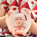 Baby's 1st Christmas Glass Photo Tree Decoration