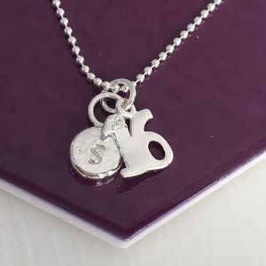 16th Birthday Personalised Silver Pebble Necklace