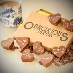 'Obnoxious Chocs' Valentine's Gift Box - novelty chocolates