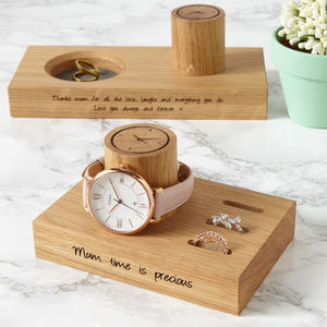 Personalised Ladies Ring And Watch Stand