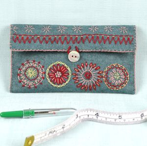 Felt Sewing Pouch Embroidery Kit - sewing & knitting