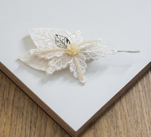Charlotte Leafy Wedding Buttonhole