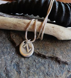 Silver Rune Stone Necklace