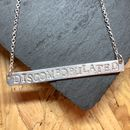 Discombobulated Silver Bar Necklace