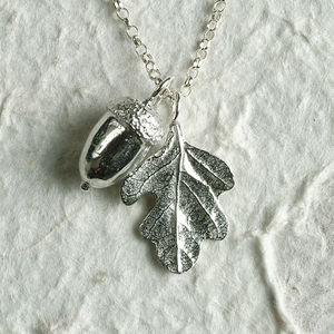 Acorn And Oak Leaf Necklace - children's jewellery