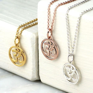 Silver Or Gold Om Necklace