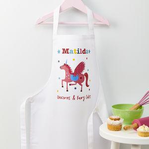 Girls Personalised Unicorn Apron - aprons