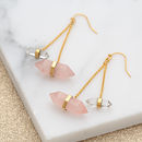 Gold Double Drop Crystal Earrings