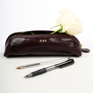 Personalised Teachers Leather Pencil Case.'The Felice'